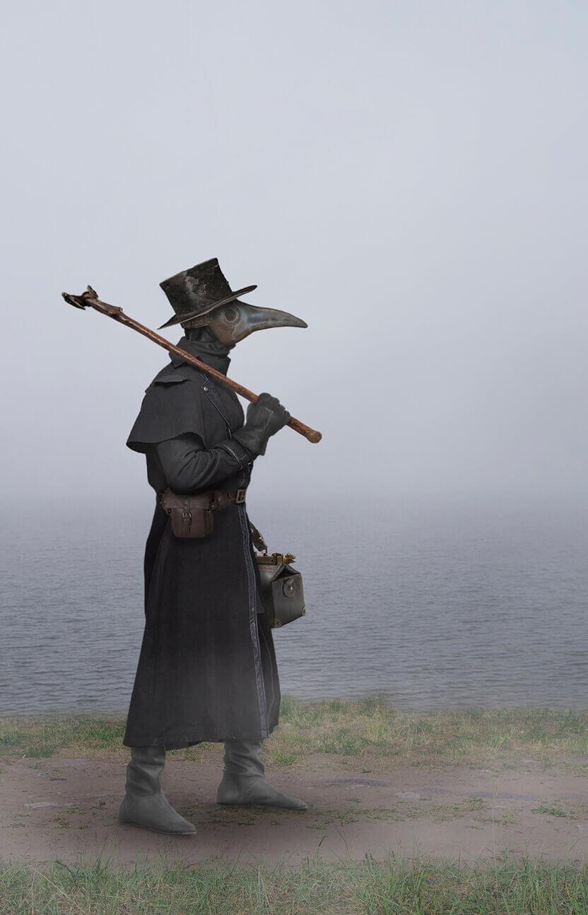 Plague doctor walking