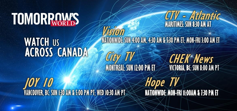 CANADA - Watch Tomorrow's World Across Canada