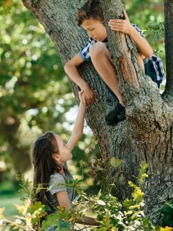 Boy Helping Girl