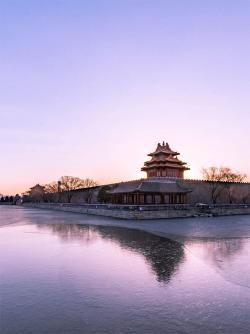Forbidden City sunrise in Winter