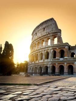Coliseum ruins at Sunrise