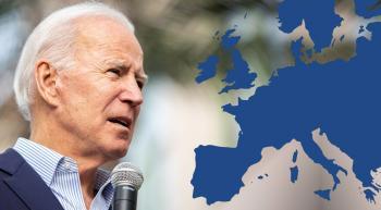 Joe Biden and a map of Europe
