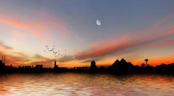 Nile River at sunset