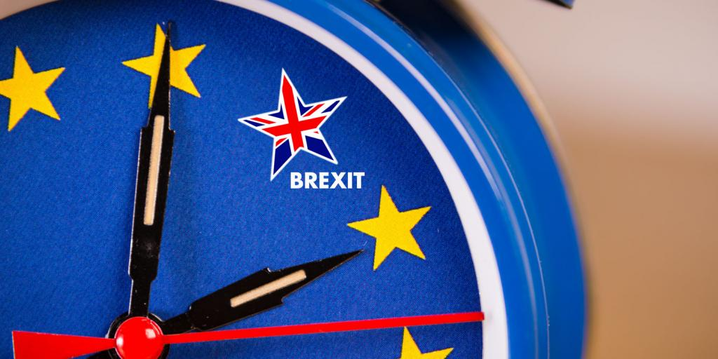 alarm clock with EU flag and the Union Jack as one of the stars