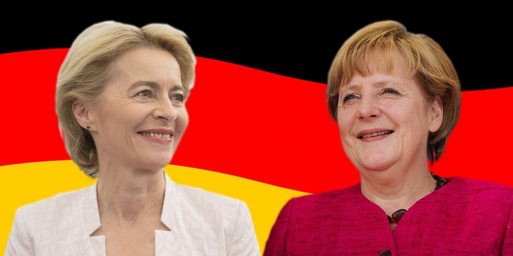 Angela Merkel and Ursula Von der Layen