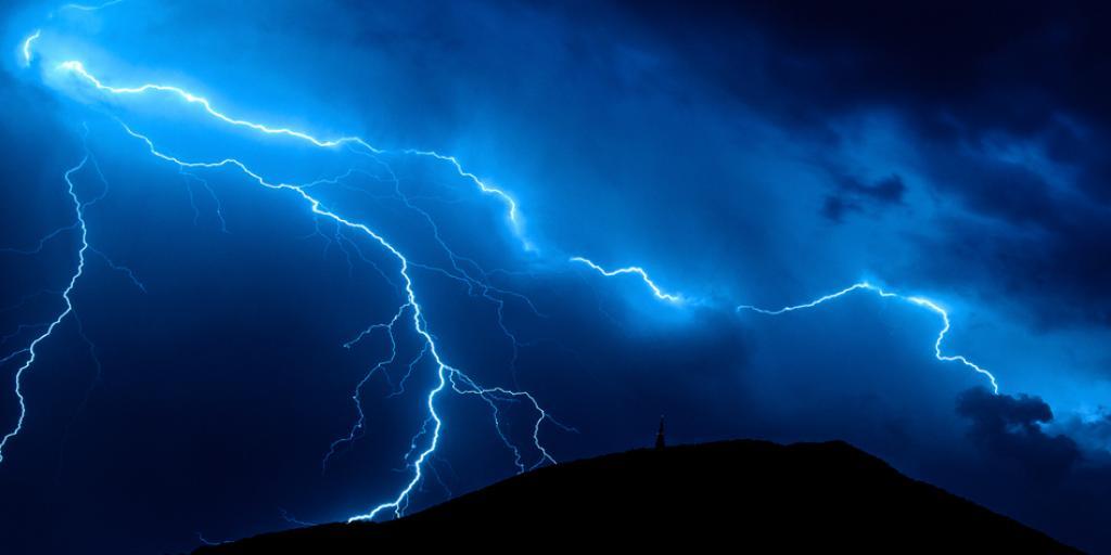 he makes the lightning for the rain