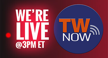 TW now is live at 3 PM ET
